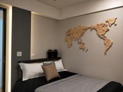 wagaMAP 臥室地圖牆