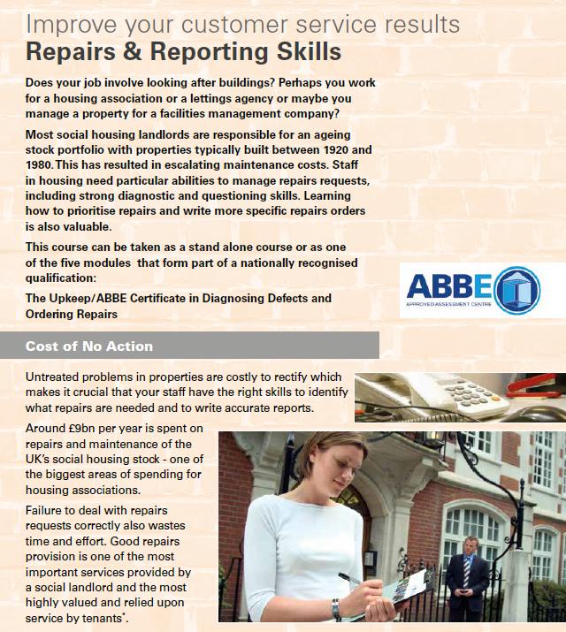 Repairs & Reporting Skills