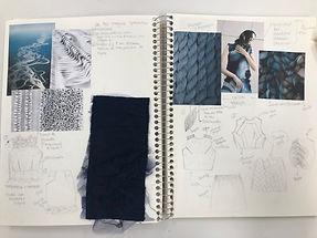 Unitec_Fashion Design_Process Book_Student Work