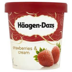 Haagen Dazs Strawberries & Cream 100ml