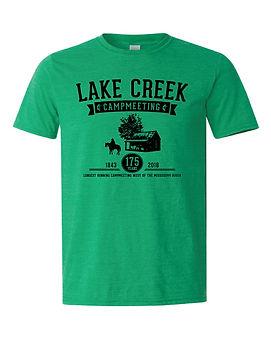 Heather green campmeeting t-shirt