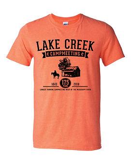 Heather orange campmeeting t-shirt