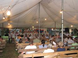 VBS program under the tent