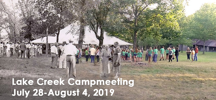 Slider for Lake Creek Campmeeting 2019