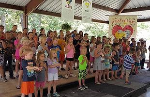 Vacation bible school program practice
