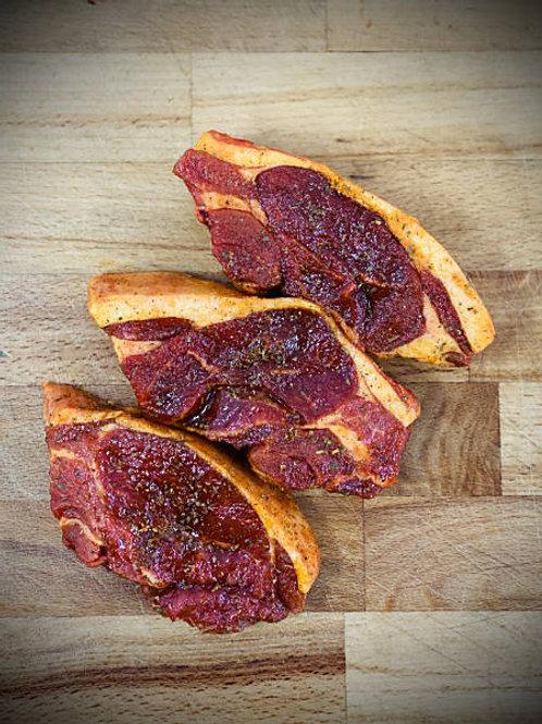 Fresh Minted Lamb Rump Steaks (min 450gr)
