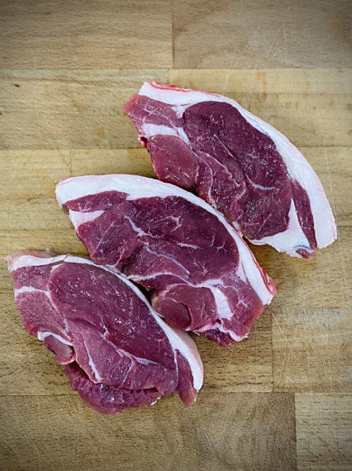 Fresh Lamb Rump Steaks (min 450gr)