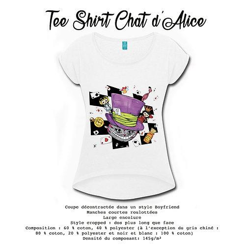 TEE-SHIRT CHAT DE CHESHIRE