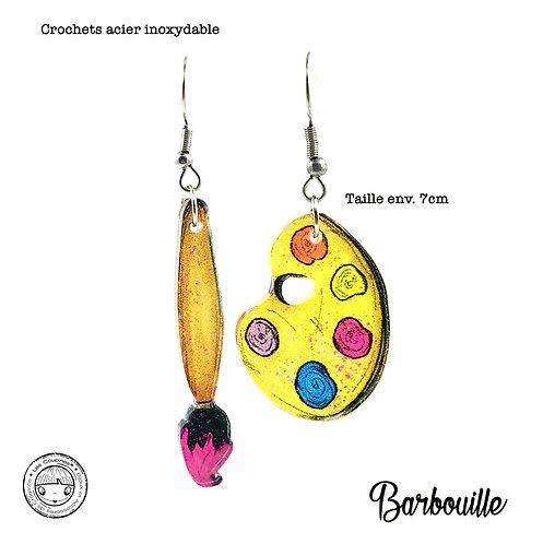 Boucles d'oreille Barbouille