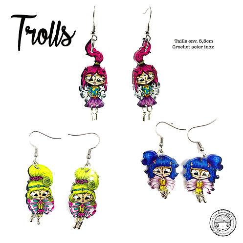 Boucles d'oreille Trolls