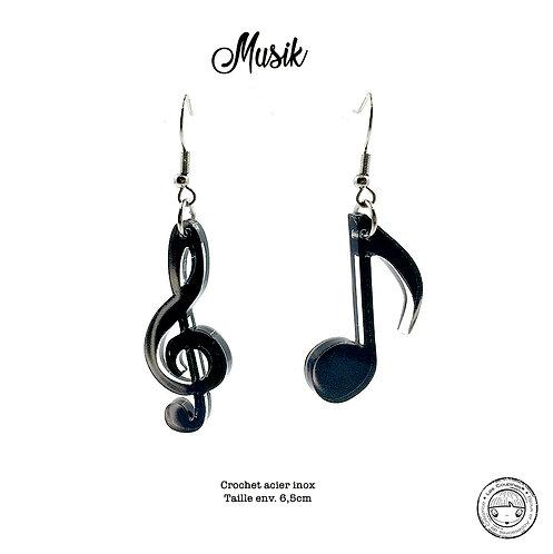 Boucles d'oreille Note de Musique