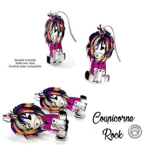 BOUCLES D'OREILLE COUPICORNE ROCK