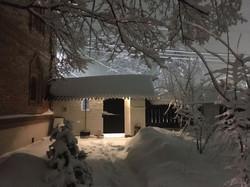 Вид на ворота из сада
