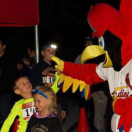 Fred Bird - St Louis Cardinals - 5k at Night