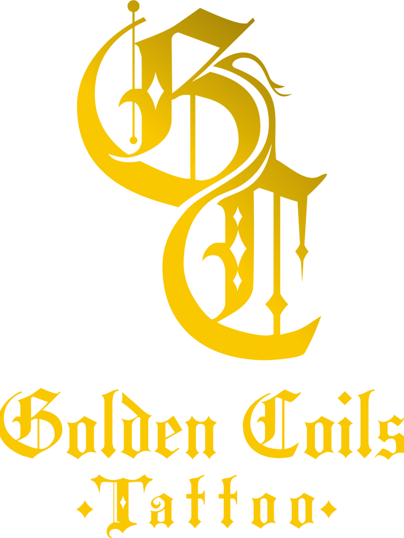THE STUDIO LOGO | Golden Coils Tattoo
