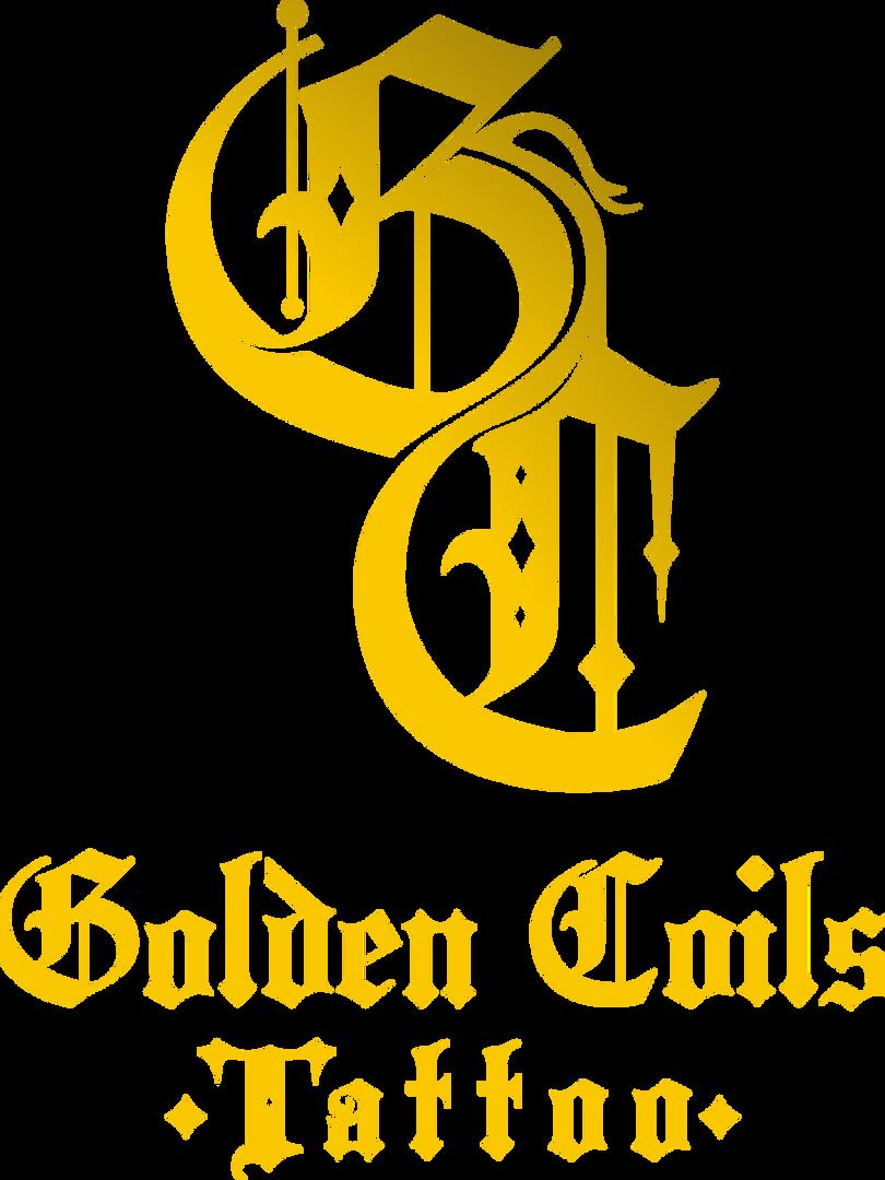 THE STUDIO LOGO | Golden Coils Tattoo