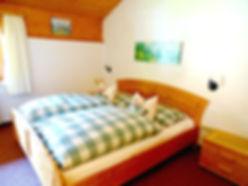 Bedroom King size bed, Aberg apartment, Haus Schneeberg, Mühlbach am Hochkönig