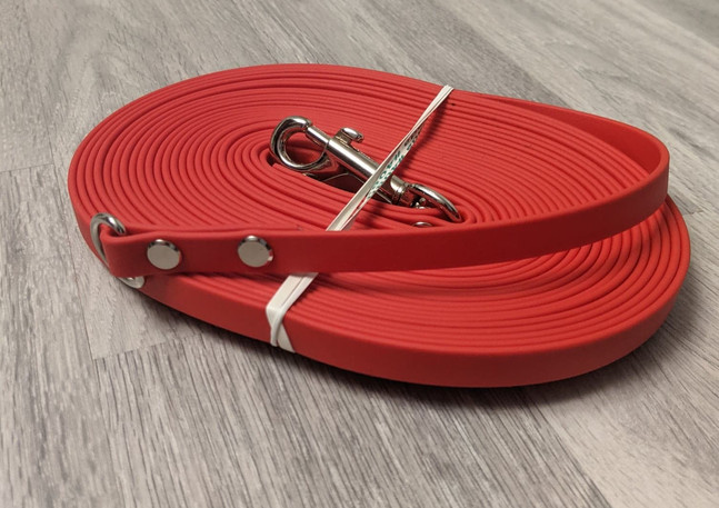"""1/2"""" Red Long Line with D-Ring to connect to Grab Tab"""