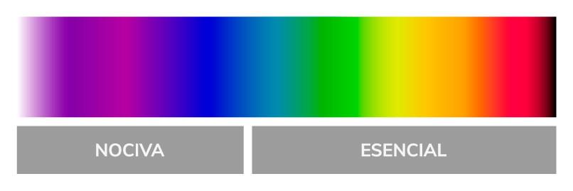 La luz azul y por qué es nociva