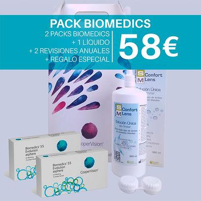 Pack de lentillas Biomedics po 58€ en Óptica San Mateo.