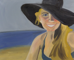 Self Portrait, Oil paint on canvas