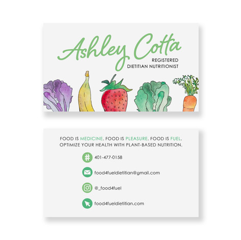 Registered Dietitian Nutritionist BusinessCard
