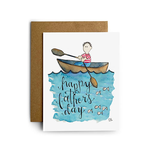 Father's Day Rowboat Greeting Card