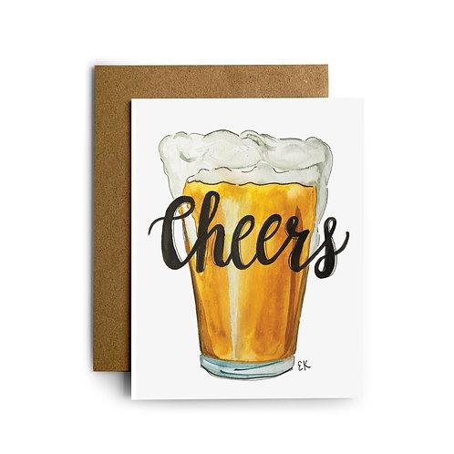 Beer Cheers Greeting Card