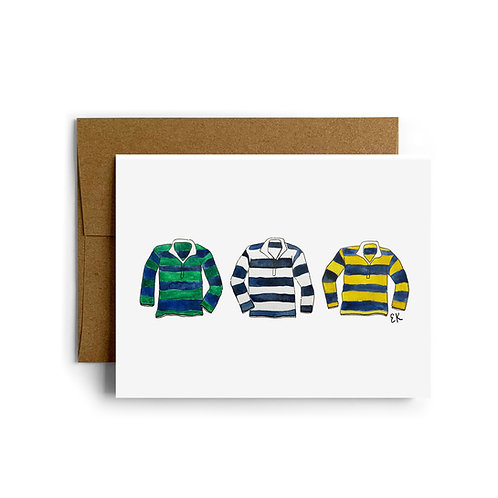 Rugby Shirts Greeting Card