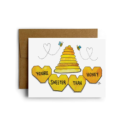 Sweeter Than Honey Greeting Card