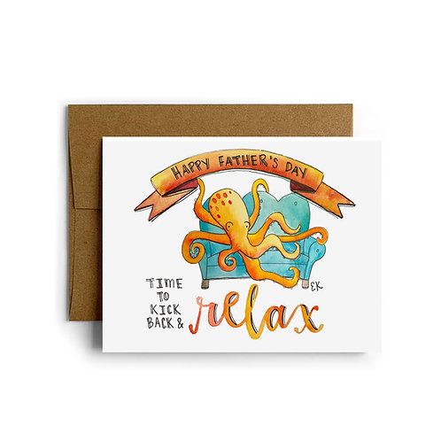 Father's Day Octopus Greeting Card