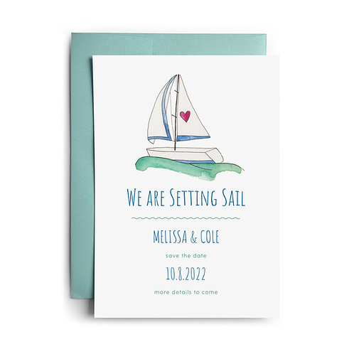 Sailboat Save the Dates