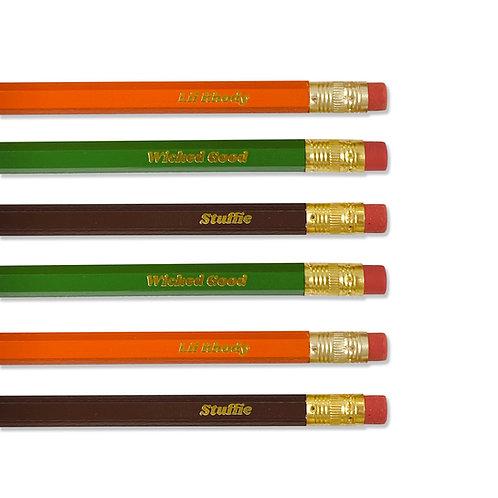 Rhody Wicked Stuffie Pencil Set