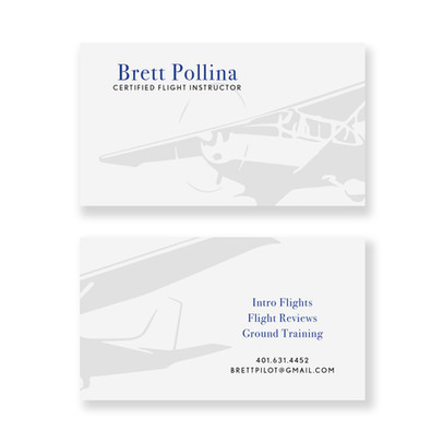 Commercial Flight Instructor Business Card