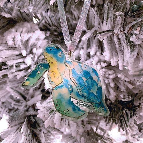 Turtle Christmas Ornament