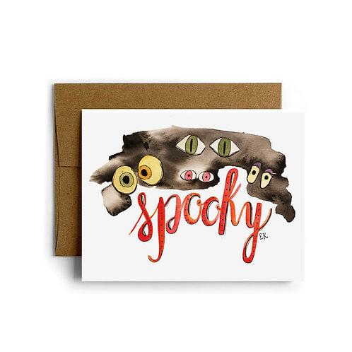 Spooky Eyes Greeting Card