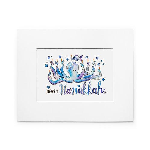 Hanukkah Octopus Print