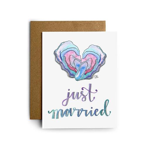 Oyster Wedding Card