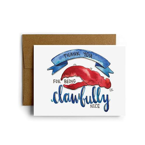 Clawfully Nice Greeting Card
