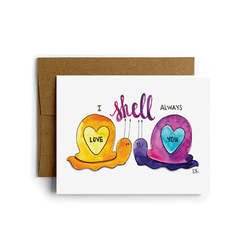 Snails in Love Greeting Card