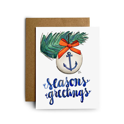 Anchor Ornament Greeting Card
