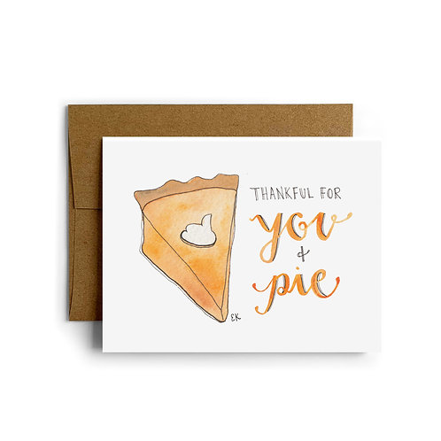Thankful for Pie Greeting Card