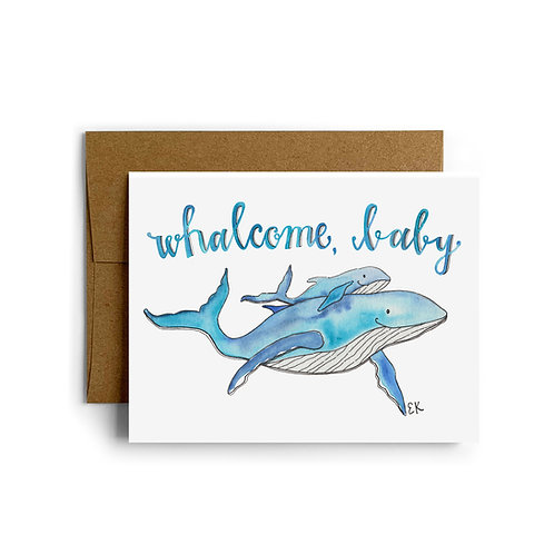 Baby Whale Greeting Card