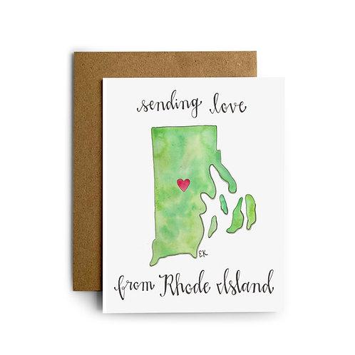 RI Love Greeting Card