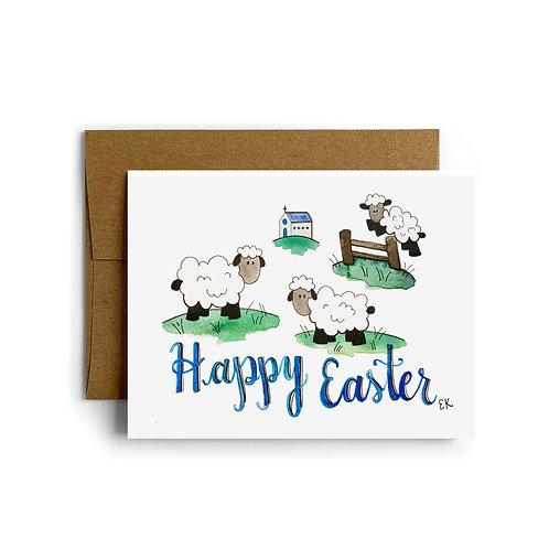 Easter Lambies Greeting Card
