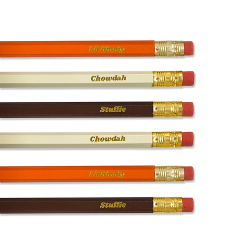 Rhody Chowdah Stuffie Pencil Set