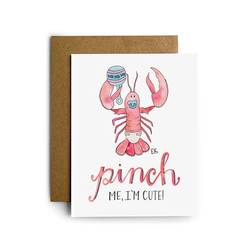 Baby Lobster Greeting Card