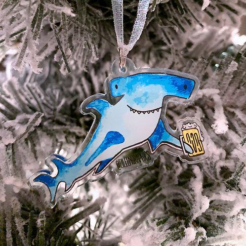 Hammerhead Shark Christmas Ornament