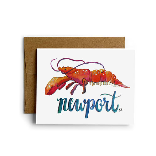 Lobster Location Greeting Card