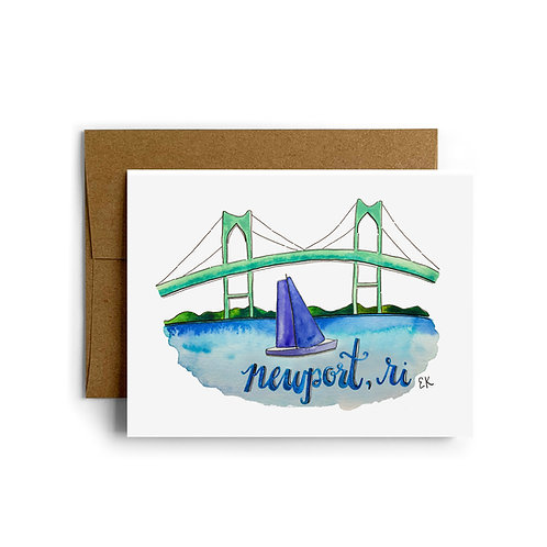 Newport Bridge Greeting Card